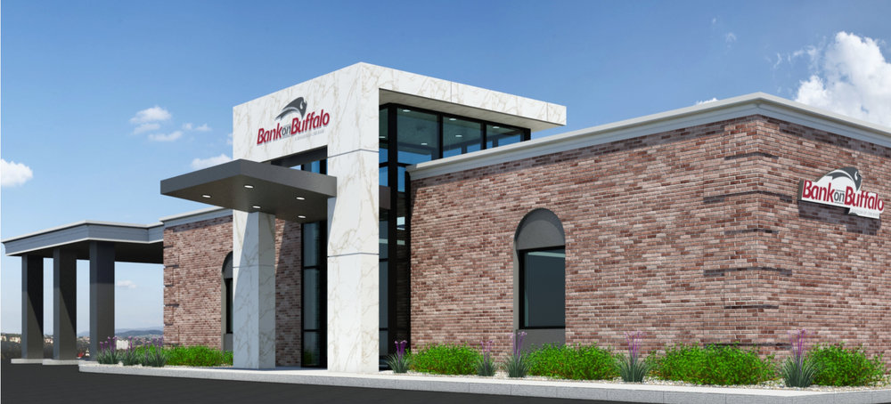 Rendering for Bank on Buffalo's Branch in Williamsville, New York
