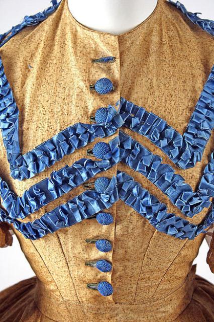 1865 年棉質禮服