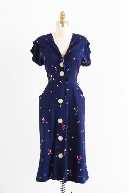 Rococo Vintage:1940 年代洋裝