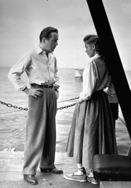1940 年代,影星Lauren Bacall 與 Humphrey Bogart