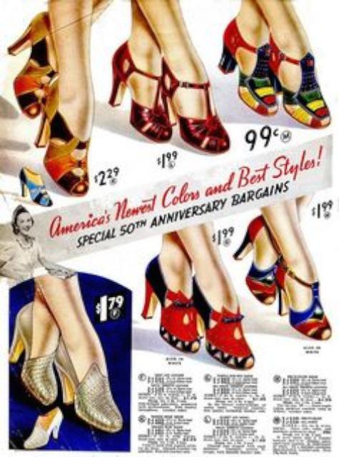 1930 年代鞋子廣告