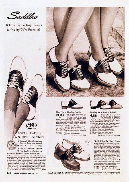馬鞍鞋廣告