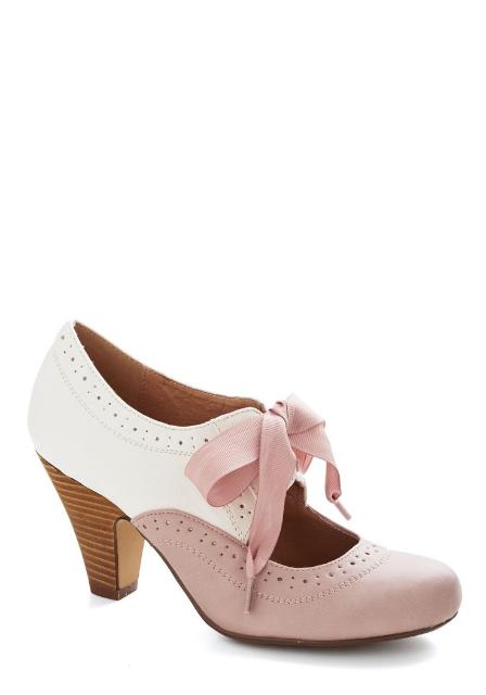 現代 two-tone 復古造型高跟鞋