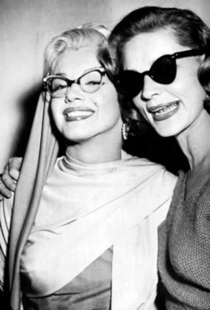 Marilyn Monroe 與 Lauren Bacall