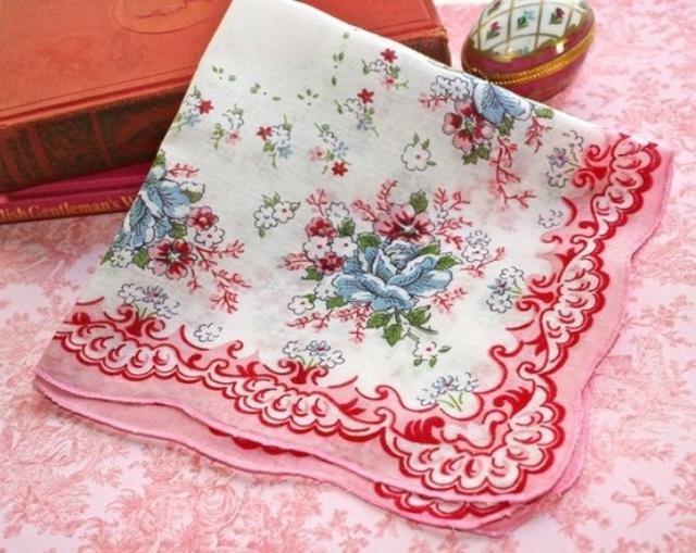 Vintage 印花手帕