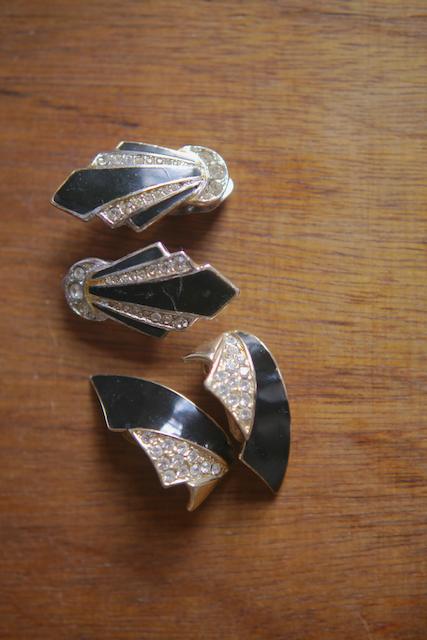 我收藏的夾式耳環