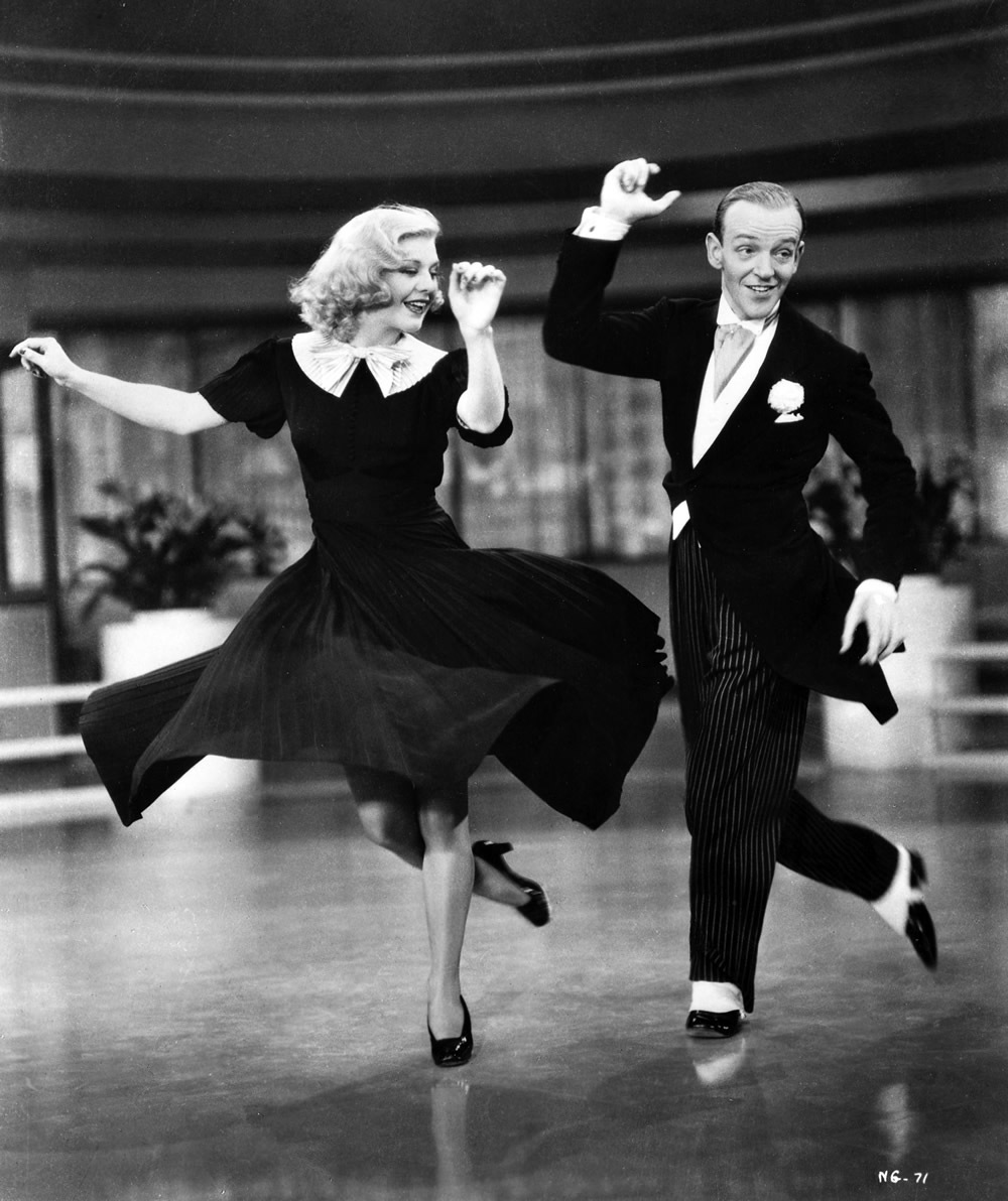 踢踏舞巨星 Fred Astaire 與 Ginger Rogers,1936 年( via   Style Matters )