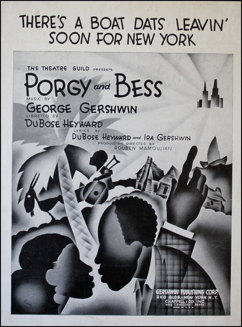 《Porgy and Bess》海報,1935( via   Figure Skating Encyclopedia )