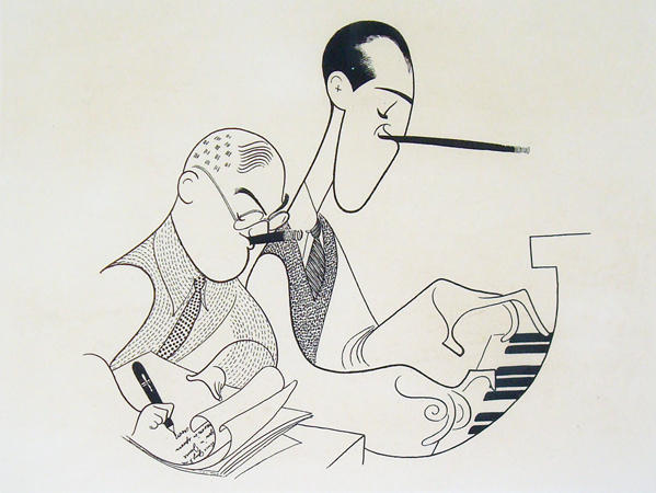 George 與 Ira Gershwin,Al Hirschfeld,1955(via Al Hirschfeld Foundation)