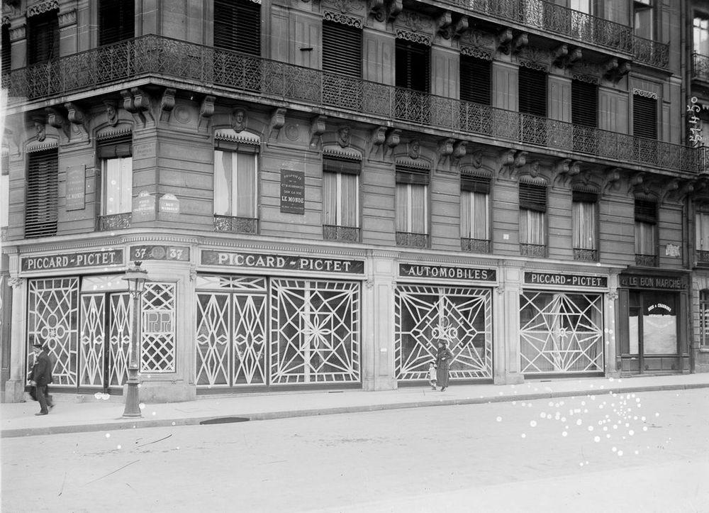一次大戰時的巴黎店面( via   Retronaut )