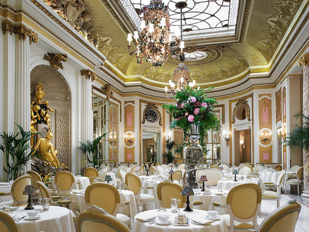 倫敦麗池飯店華麗的 Palm Court 下午茶室( via :  The Ritz London )