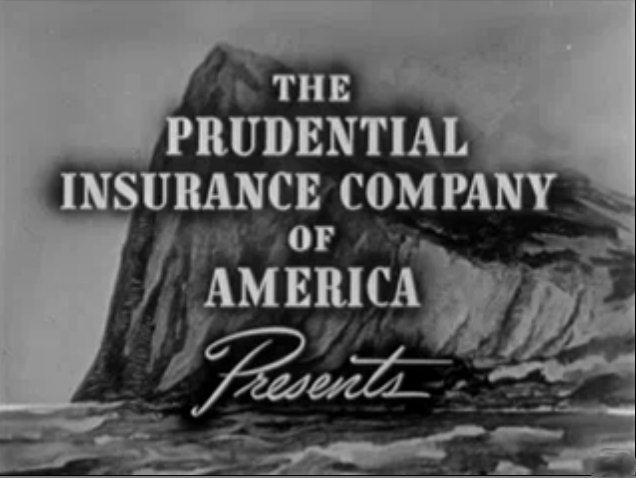 Prudential 保德信保險公司在 1940 年代用直布羅陀巨巖作為可靠的象徵( via :  Wikipedia )