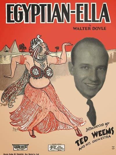 〈Egyptian Ella(埃及艾拉〉樂譜封面(via:Enjoying Traditional Jazz)