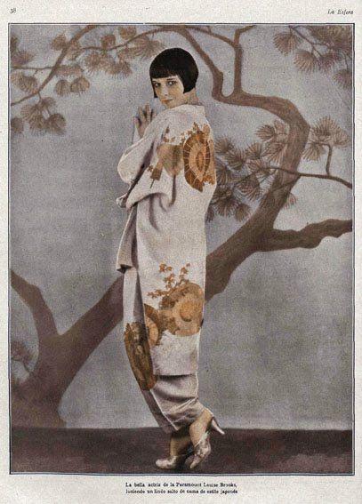 1920 年代影星 Louise Brooks「東方風」的造型(via:Pinterest)