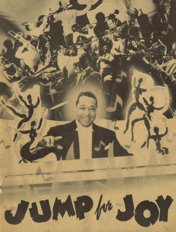 艾靈頓公爵監製的音樂雜劇《Jump for Joy》的節目單(via: Indiana Public Media)