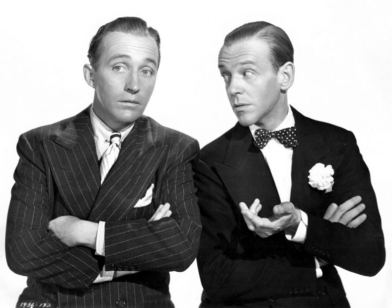 Bing Crosby 與 Fred Astaire(via:Pinterest)