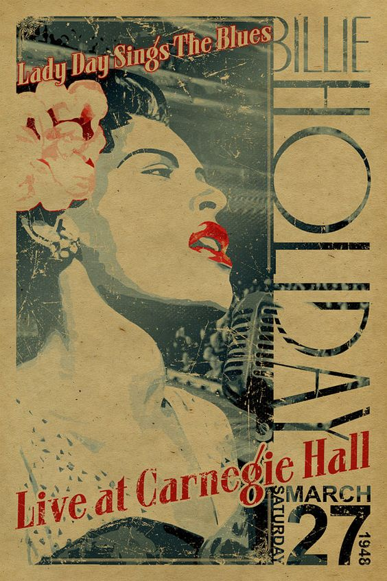 Billie Holiday 卡內基演唱會海報(via: The Jazz Labels)