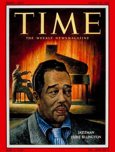 《時代》雜誌封面上的艾靈頓公爵(via:  Time Magazine )