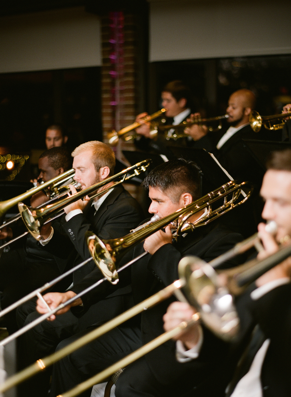 Live music adds that personal touch that brings a wedding to life. Here is the  MSU Jazz Ensemble  performing for Sarah and Mike's wedding in 2014. Photo Credit: Arielle Doneson Photography