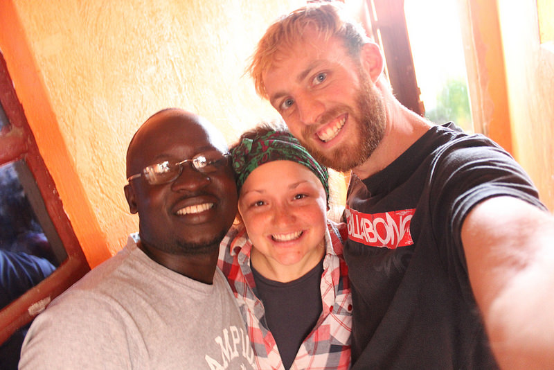 Photo: Francis, Megan & Mark in uganda 2014 (Co-founders & Directors of Hope for Life Katanga)