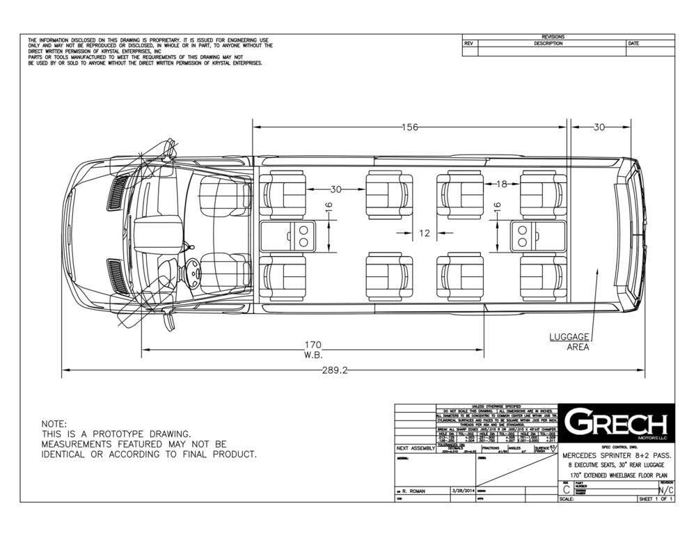Grech Motors VIP Limo floor plan