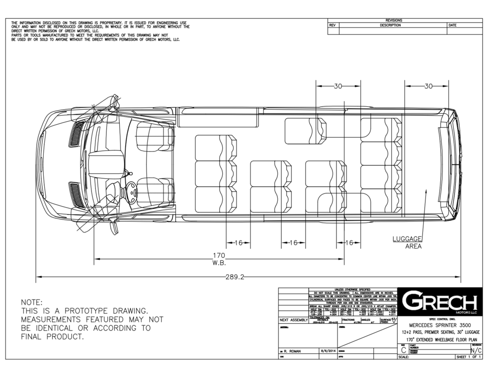 Grech Motors Shuttle Sprinter floor plan