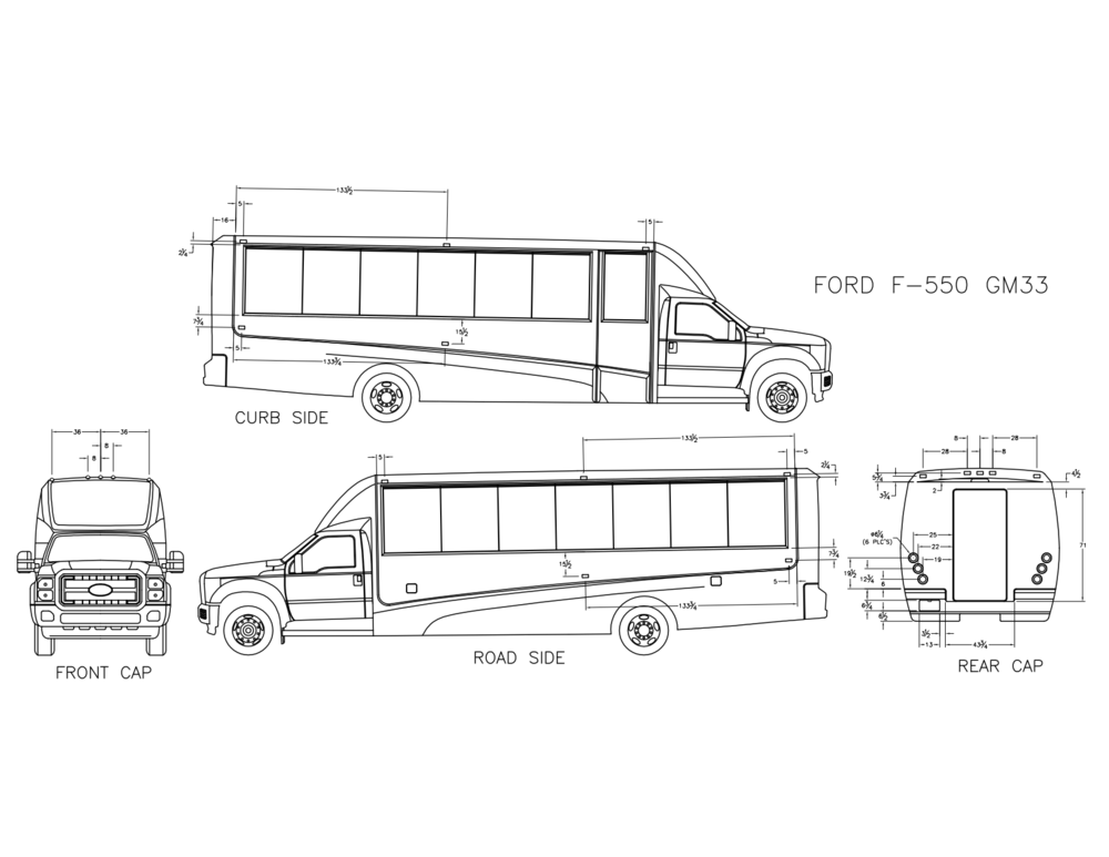 Grech Motors F-550 luxury shuttle bus graphics specs