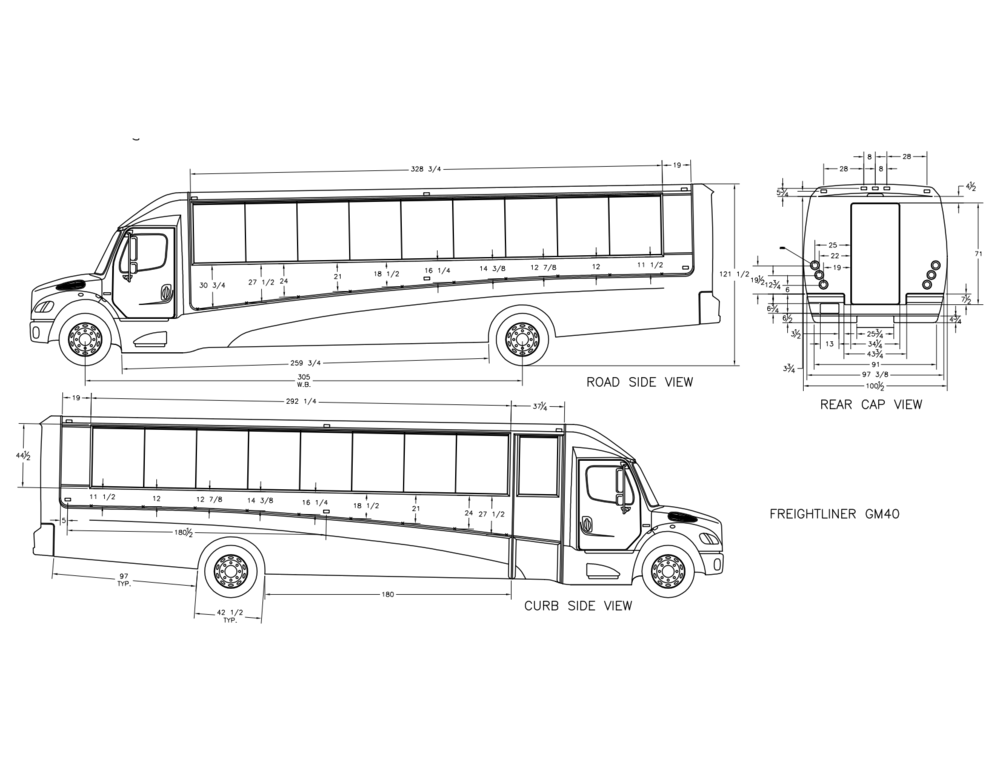 gm40 freightliner shuttle bus  white   u2014 grech motors  the