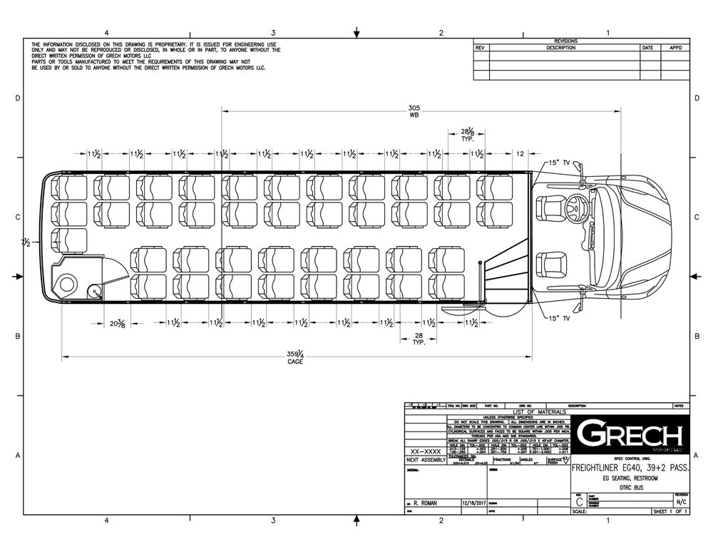 Grech Motors EG40, with restroom 39+2