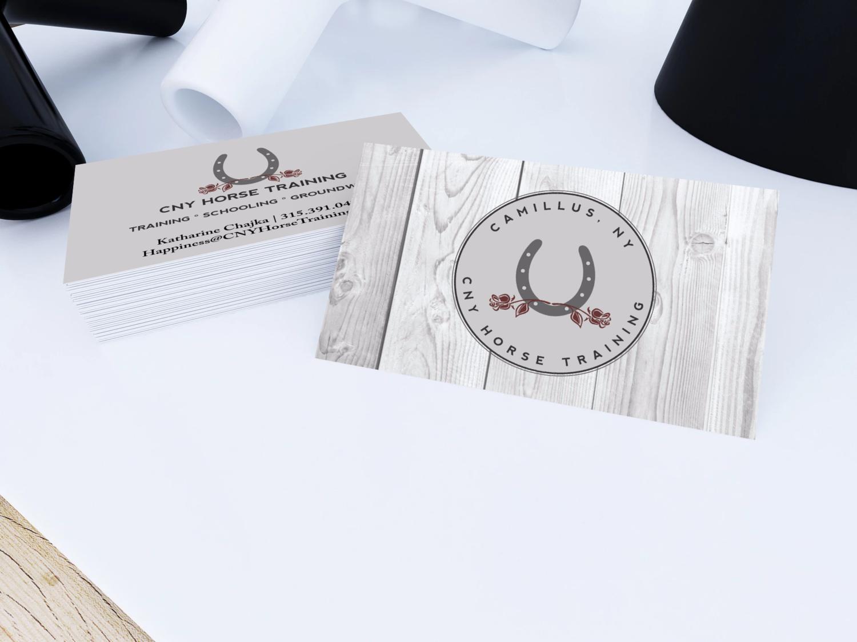 Custom Logo And Business Card Design Cny Horse Training 315 Designs