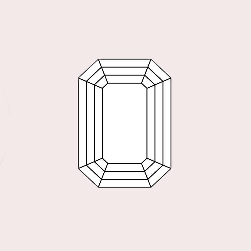 Emerald Cut Custom Engagement Ring