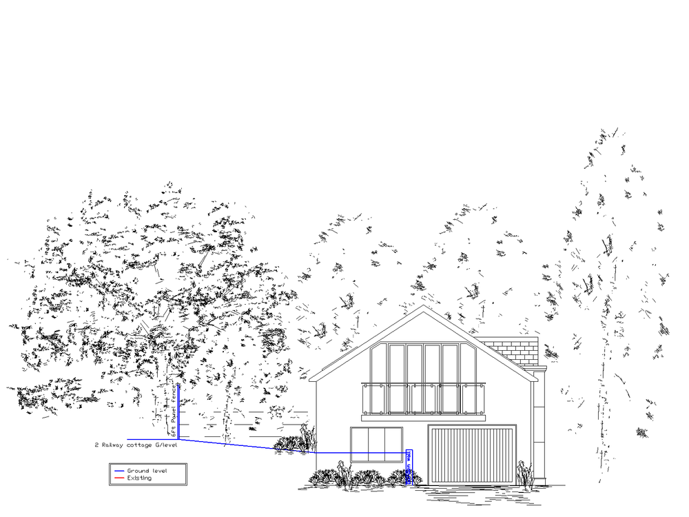 Elevation of an industrial unit conversion for planning permission.