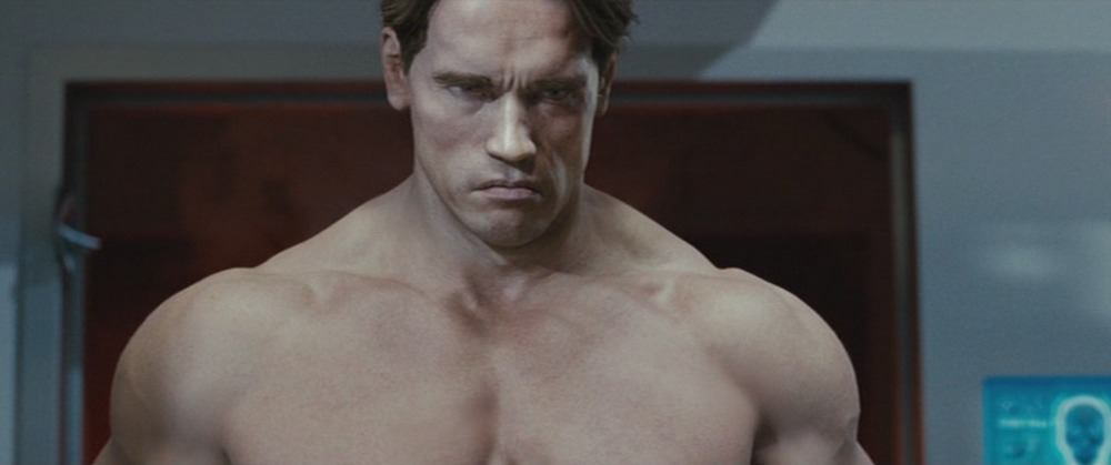Oh right, CGI. Nevermind, Arnold is still in shape.  Image Soure:  moviepilot.com
