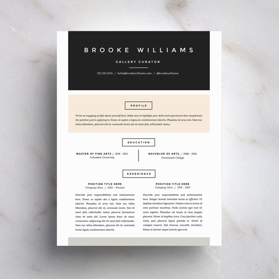Resume Design Inspiration  U2014 Alejandra Torres  Resume Design Inspiration