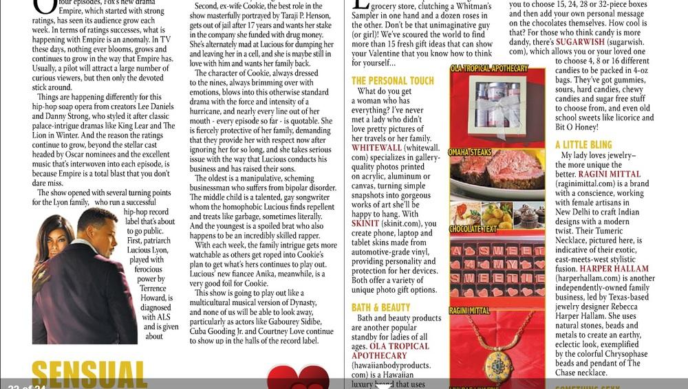 Ragini Mittal Turmeric Necklace featured in InSite Magazine ATL Valentine's Day