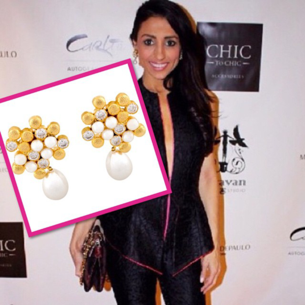 Ragini Mittal Jewelry makes a red carpet appearance during NYFW15