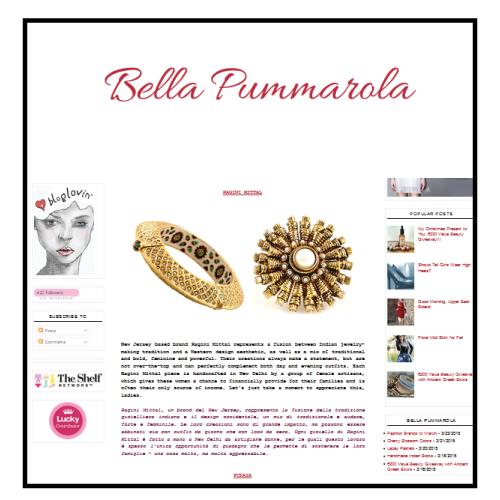 Ragini Mittal featured on Bella Pummarola