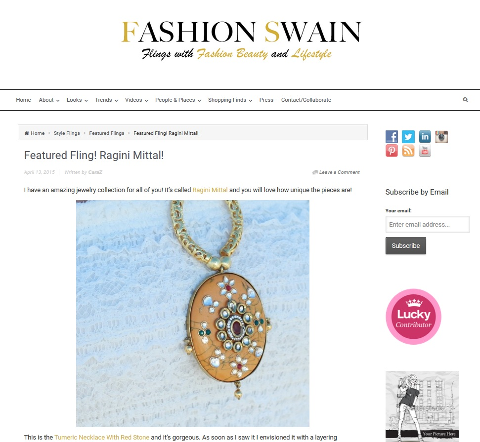 Turmeric Necklace featured on Fashion Swain Blog