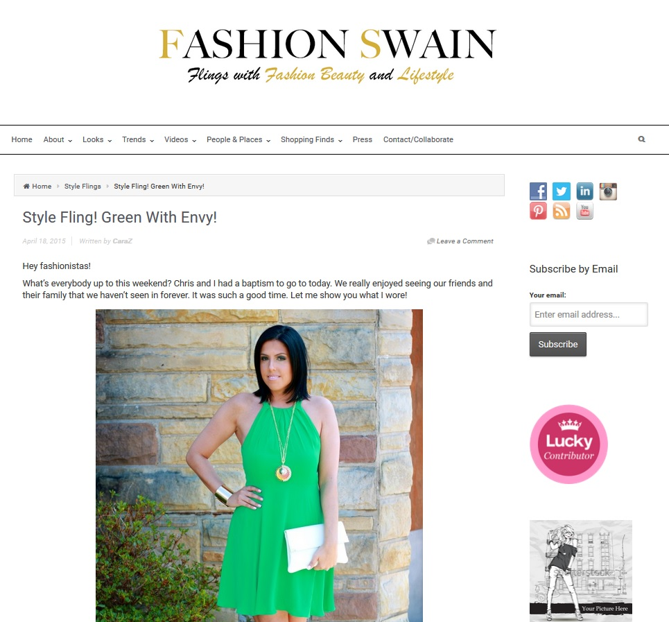The Rainbow Pendant Necklace featured on Fashion Swain Blog