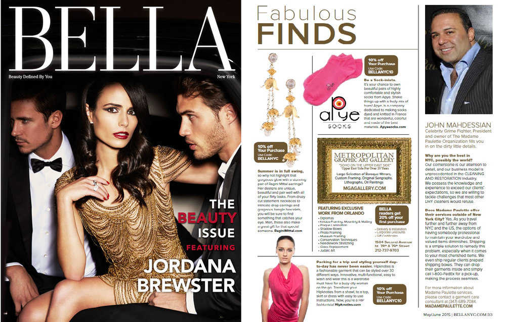 Ragini Mittal Jewelry in FAB FINDS in BELLA NYC MAGAZINE for May Issue