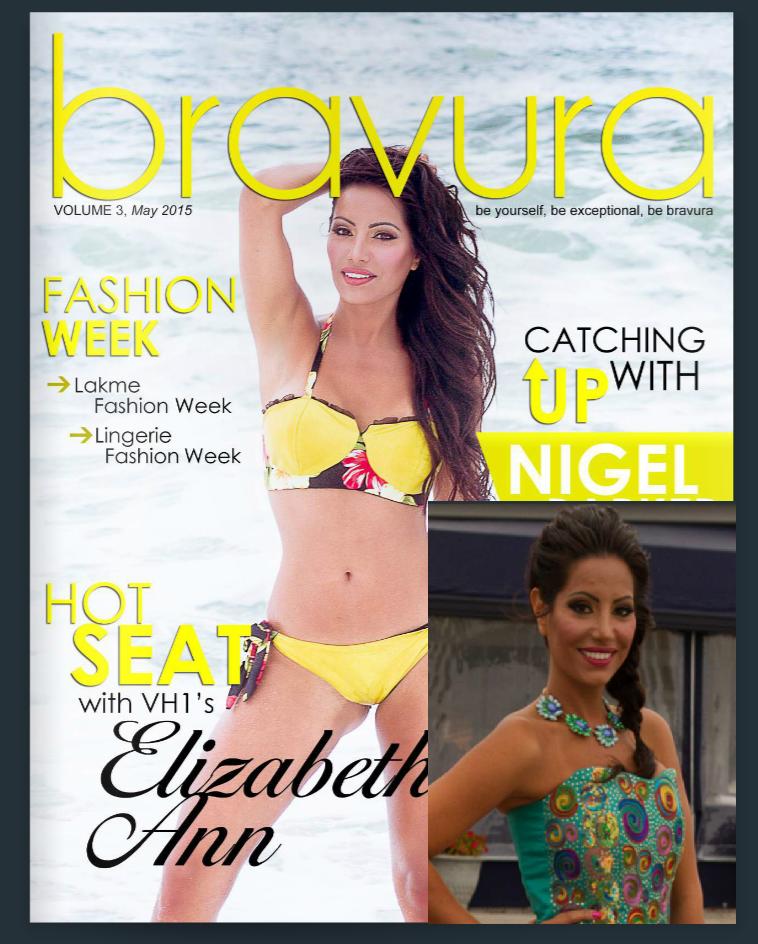 Elizabeth Ann Vashisht Wearing Ragini Mittal Jewelry In S/S2015 digital issue of Bravura Magazine
