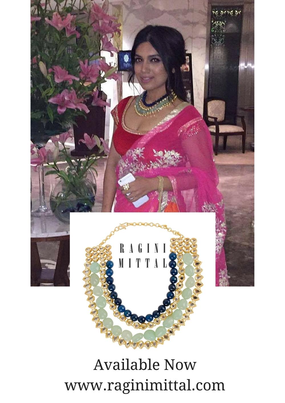Bhumi Pednekar wearing Ragini Mittal's Multi String Kundan Necklace