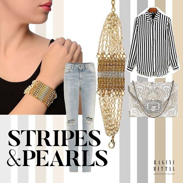 Casual and chic in the same outfit! Get the Kiss of Pearls Bracelet with Silver Accent here: www.raginimittal.com #jewerly #jewellery #indianjewelry #indianjewellery #fashionjewelry #fashion #fashionaccessories #accessories #jewelrylover #jewelrylovers #designerjewelry #fashionblogger #jewelryblogger #indian #indianfashion #jewelrylove #jewelrylovers #buyjewelry #outfit #bracelet