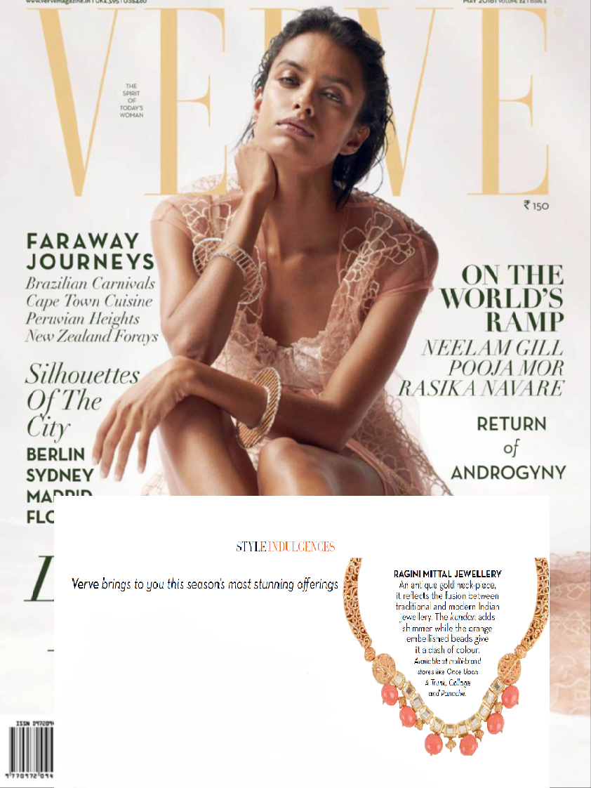 Our Beautiful Antique Bead Necklace seen in Verve Magazine - May 2016 Issue