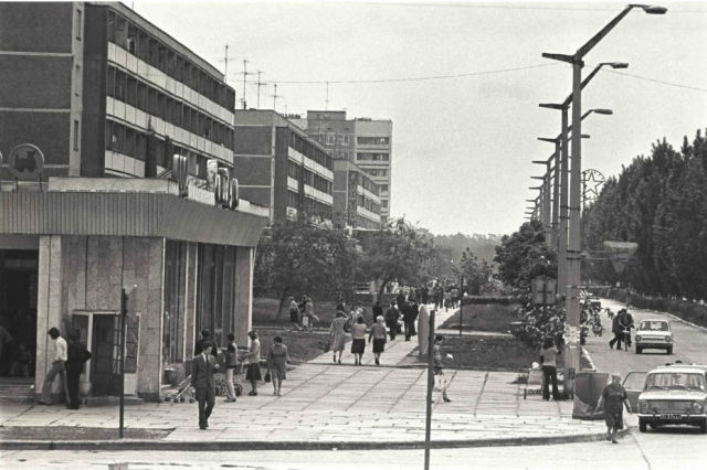 ⎯ Pripyat. Main road before the disaster.