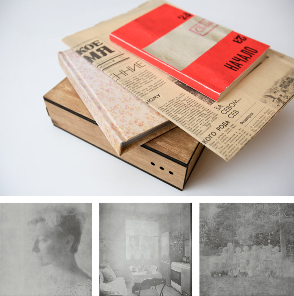 ⎯ The beautifully designed book, box and the overexposed looking images of Mariya.