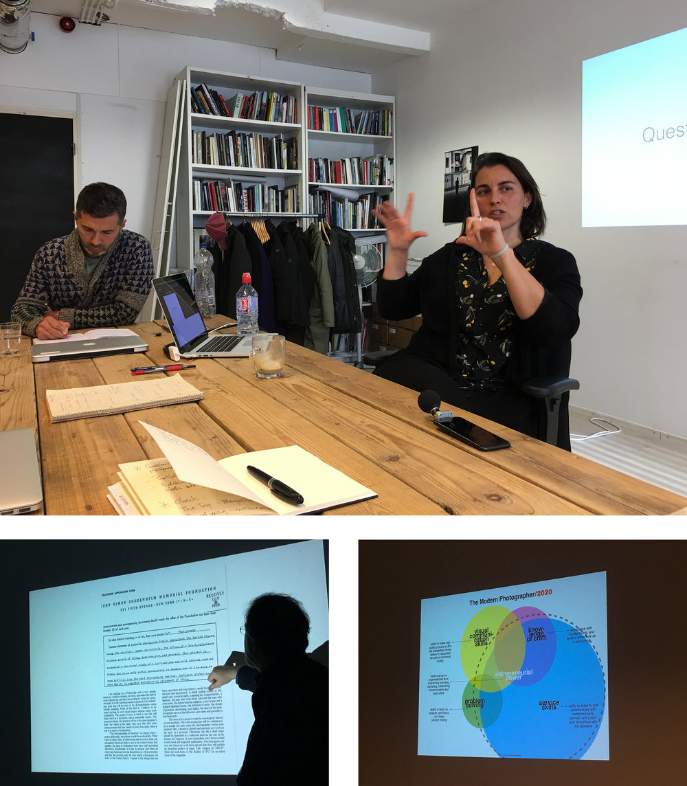 - Arianna Rinaldo and her lecture on editing, photo festivals and her own carreer.