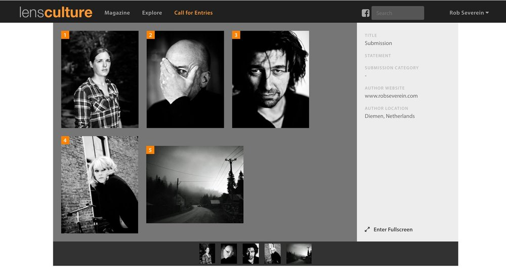 - The LensCulture website featuring my submission for the BW Awards.