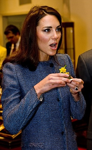 Kate Middleton with a precious gem in her hand... and we're not talking about Princess Diana's sapphire engagement ring.