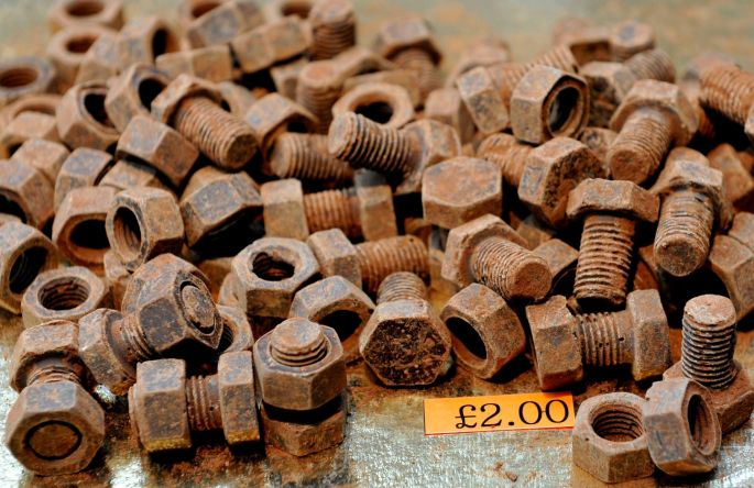 Another one that looks like a Voilà Chocolat original! Our bolts are also filled with caramel... Chocolate nuts and bolts. Photograph: Nick Ansell/PA Wire